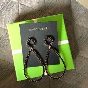 BAUBLEBAR BLACK/GOLD DROP EARRINGS